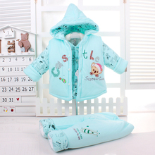 Baby Infant Kids 3 Pcs Set Fall Winter Little Boys & Girls Thick Cotton-Padded Vest Coat + Tops + Pants Suit Newborn Clothes X0 3 pcs 1 lot 2016 winter baby girls boys clothes sets children down cotton padded coat vest pants kids infant warm outdoot suits
