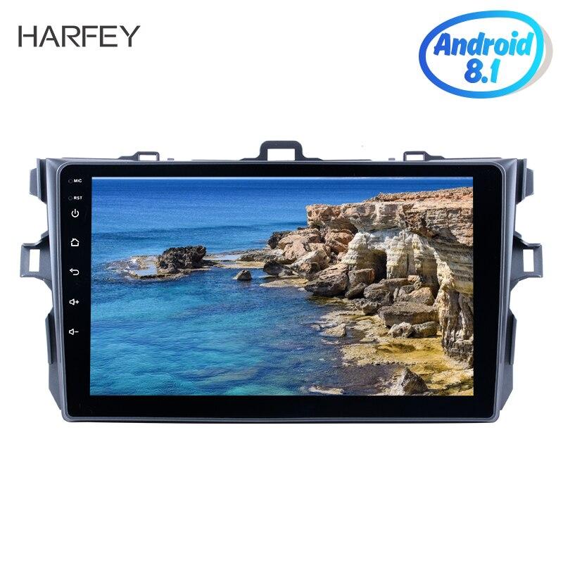 Harfey Android 8.1 Quad-core Voiture Multimédia Pour 2006 2007 2008 2009 2010-2012 Toyota Corolla avec radio gps unité Lecteur WIFI CFC