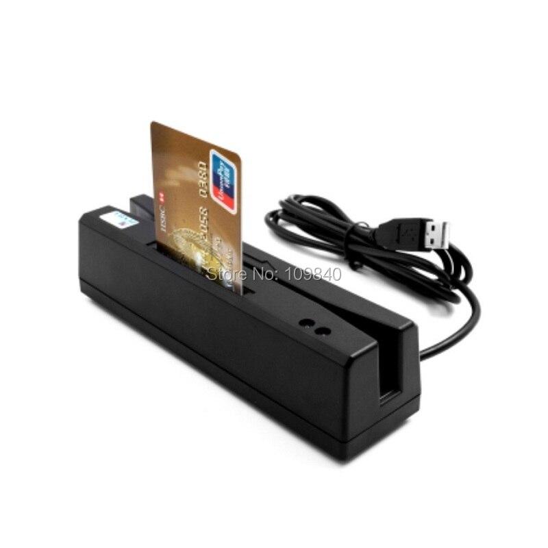 Lecteur de carte à bande magnétique MSR160 lecteur de carte RFID et Support de carte à puce lecteur de carte PSAM 4 en 1