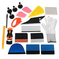 21Pcs Professional Car Window Wrap Vinyl Tools Kit Scratch free Squeegee Scraper Razor Glove Magnets Universal