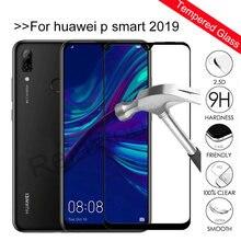 Película de vidro temperado para huawei p smart, película protetora completa de tela para huawei p smart 2019, 2019 POT-LX3 e POT-LX1 polegadas 9h