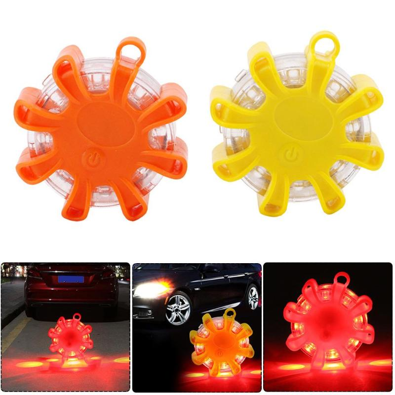 Mini 8 LED Flashing Warning Light Emergency Work Lights Magnetic Flashlight SOS Lamp Safety Indicator Light Emergency Work Light