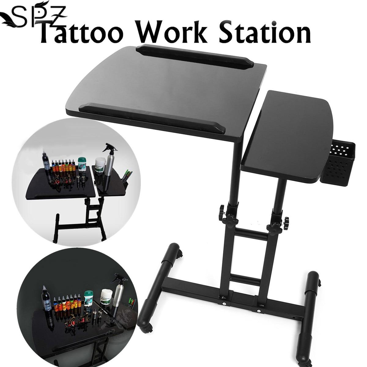 65-97cm noir réglable tatouage bureau Table multifonctionnel tatouage traçage dessin tatoueur poste de travail Stand Portable