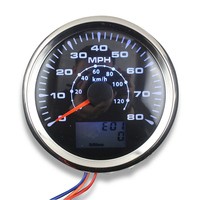 1pc 85mm GPS speedometer 8 Colors Backlight 0 80MPH LCD speed odometers 0 120km/h speed mileometers trip gauge cog for car