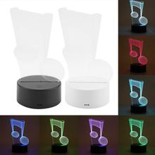 LED Seven-color Night Light Lamp With USB Chargeable 4.5V 3W ABS Base Touch Switch Acrylic Panel Night Light For Bedroom Gift with a touch of usb light mobile power supply usb light led lamp night light on a computer with a touch switch for the 5 v