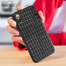 KISSCASE Soft TPU Case For iPhone X XR XS MAX Woven Grid Super Slim Cover Silicone Phone