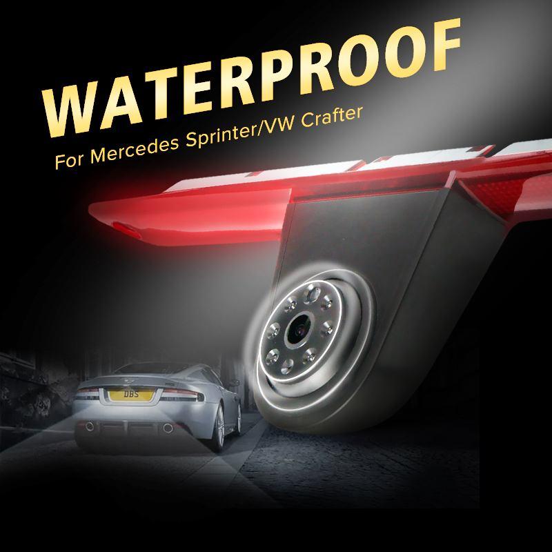 Voiture CCD de Recul caméra arrière feu de stop led pour Mercedes pour benz/Sprinter/VW pour Volkswagen vision nocturne fonction