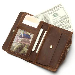 Image 2 - Lange Reizen Portemonnee Voor Mannen Real Crazy Horse Lederen Portemonnee Kaarthouder Hot Selling Gratis Schip Heren Vintage Portefeuilles