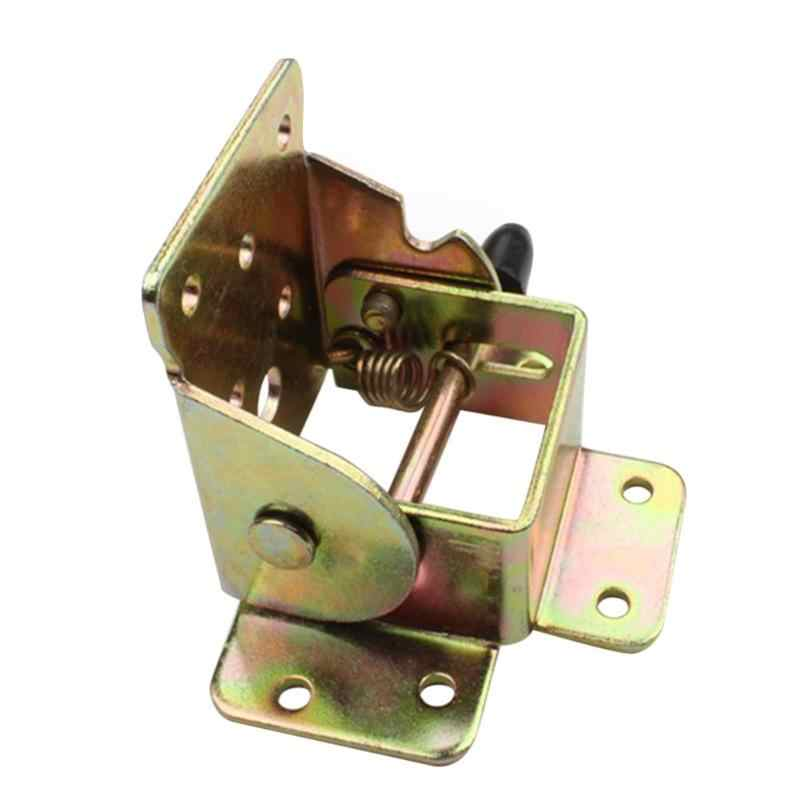 Metal Locking Folding Table Chair Leg Brackets Spring Cabinet Hinges Cupboard Door Furniture Hardware With Screws No-Drilling
