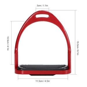 Image 4 - Étriers déquitation Flex selle de cheval en aluminium anti dérapant pédale de cheval équipement de sécurité équestre