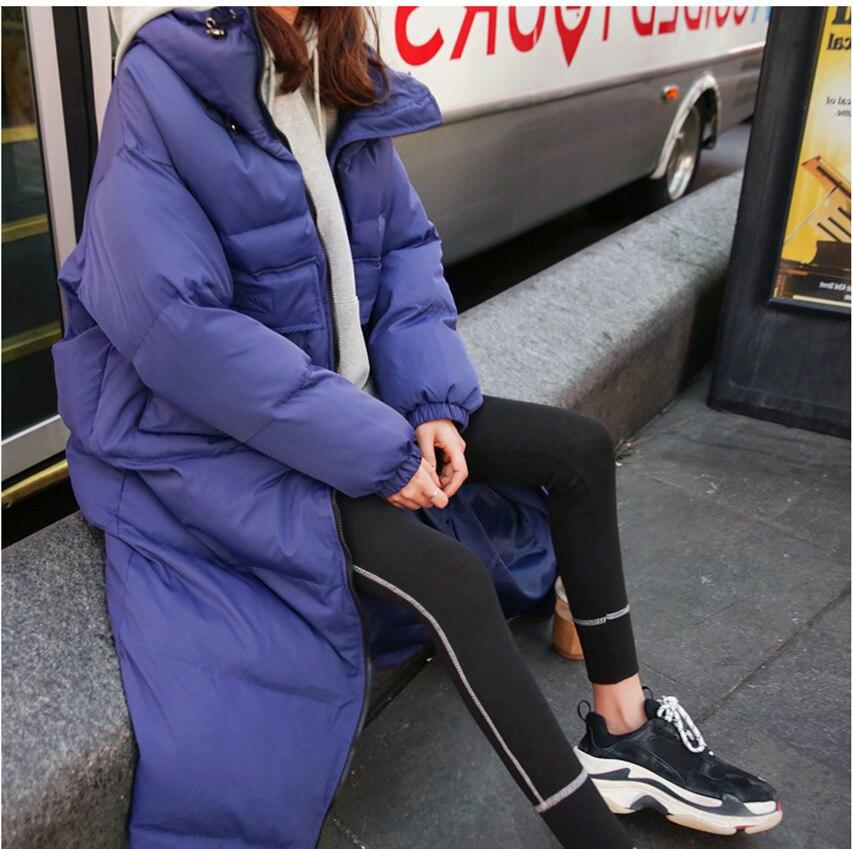 Coton Épaississement Servir Nouveau Patchwork Vente Aucun Lâche purple Manteau Veste Femme 2018 Pardessus Vêtements black Beige Pain Polyester Coréenne Longue Fonds ExIvxwP