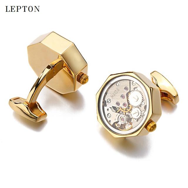 Купить запонки lepton мужские механизм в стиле стимпанк для свадебных