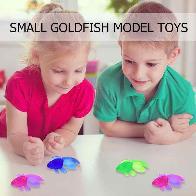 Интересный Моделирование маленькая золотая рыбка творчество детская игрушка Моделирование маленькая рыба цвет ed Золотая Рыба мягкий резиновый цвет случайный