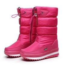 Новинка; женские ботинки; зимняя обувь на платформе; толстые плюшевые Нескользящие Водонепроницаемые зимние ботинки для женщин; походные лыжные ботинки; обувь для путешествий