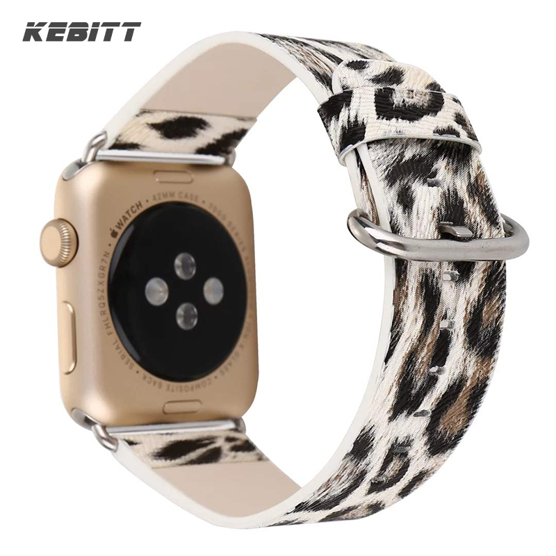 Kebitt Women Leather Band for Apple Watch 42mm 38mm 40mm 44mm Colorful Belt Strap Leopard Print Bands iWatch Series 4 3 2 1Kebitt Women Leather Band for Apple Watch 42mm 38mm 40mm 44mm Colorful Belt Strap Leopard Print Bands iWatch Series 4 3 2 1