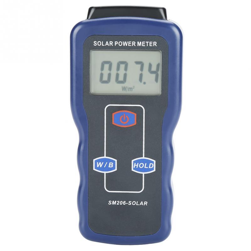 SM206 Digital Solar Power Meter Sun Light Radiation Measuring Testing Instrument Wholesale