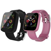 Smart Bracelet Tongle New Full Screen Touch Alipay 24 Hour Continuous Heart Rate Offline Payment Smart Watch Black Pink