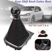 6 Speed Car Gear Shift Knob Lever Shifter Leather Gaiter Boot Cover for VW Golf 5 6 Manual Transmission