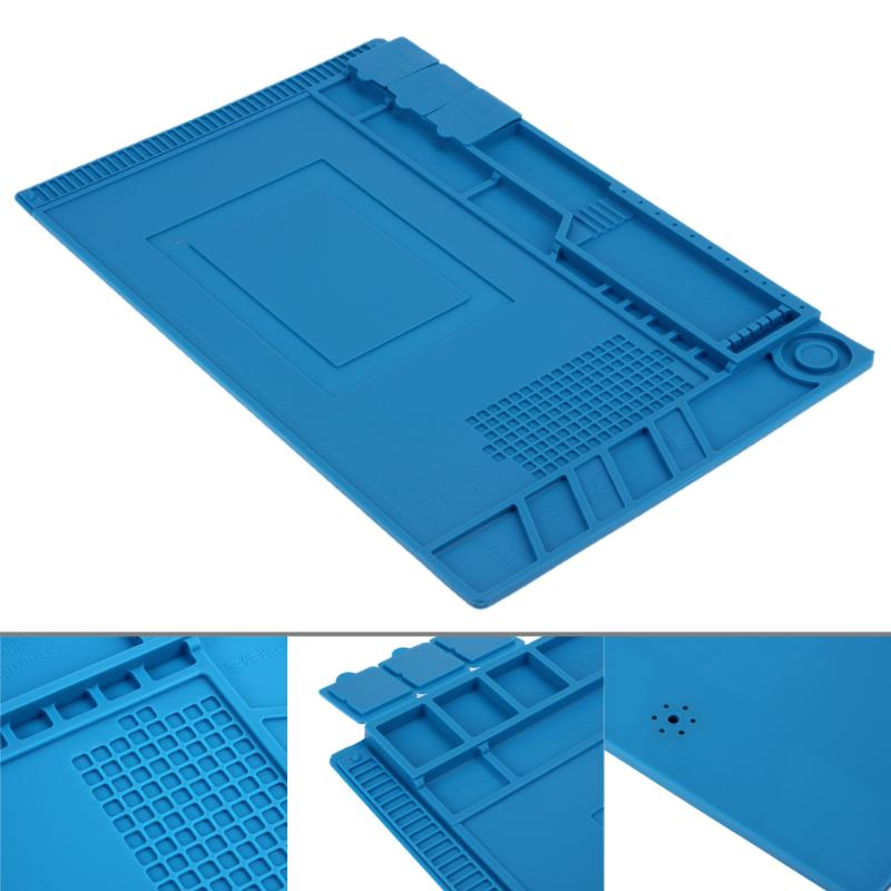 45*30 cm Anti Static Heat Insulation Silicone Pad Magnetic Section Insulation Pad Repair Tools Maintenance Platform Desk Mat45*30 cm Anti Static Heat Insulation Silicone Pad Magnetic Section Insulation Pad Repair Tools Maintenance Platform Desk Mat