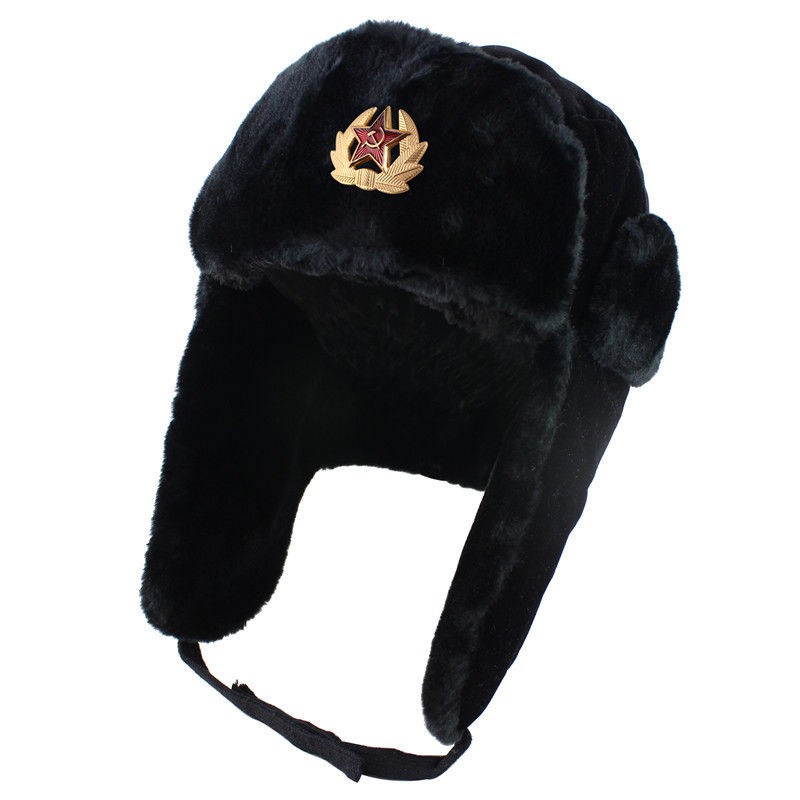 Winter Hats Snow-Russian-Hat Bomber-Hat Ear-Flap Female Women for Thick Warm Fur Velvet