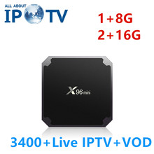 Asli X96mini IPTV Android Set Top Box Evdtv Bahasa Swedia Inggris Amerika Serikat Timur Tengah Iran Israel Bahasa Perancis Mesir Media Player X96 mini TV Box(China)