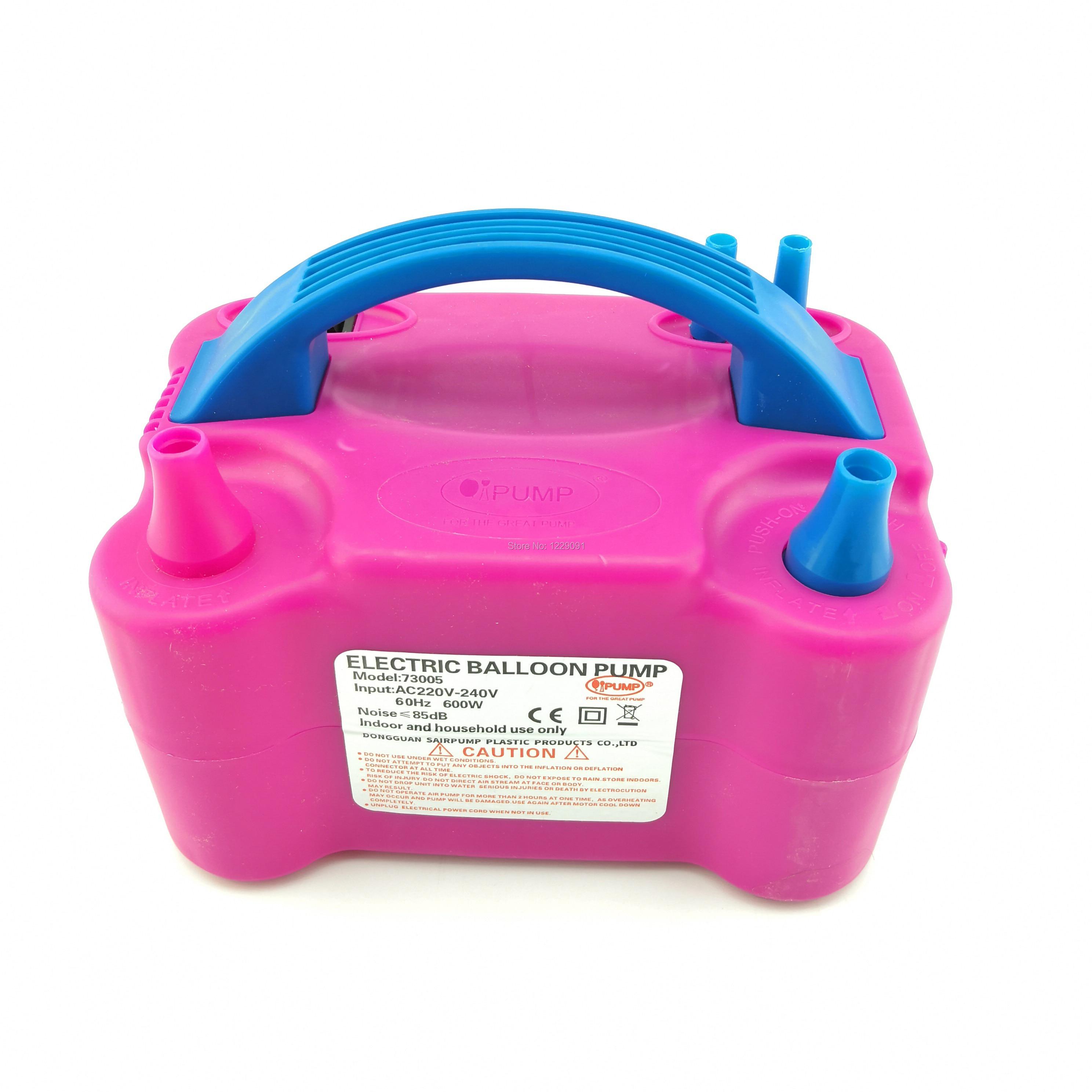 Electric Balloon Air Pump Portable Inflator Blower Dual Nozzle Machine /& 100 Pcs