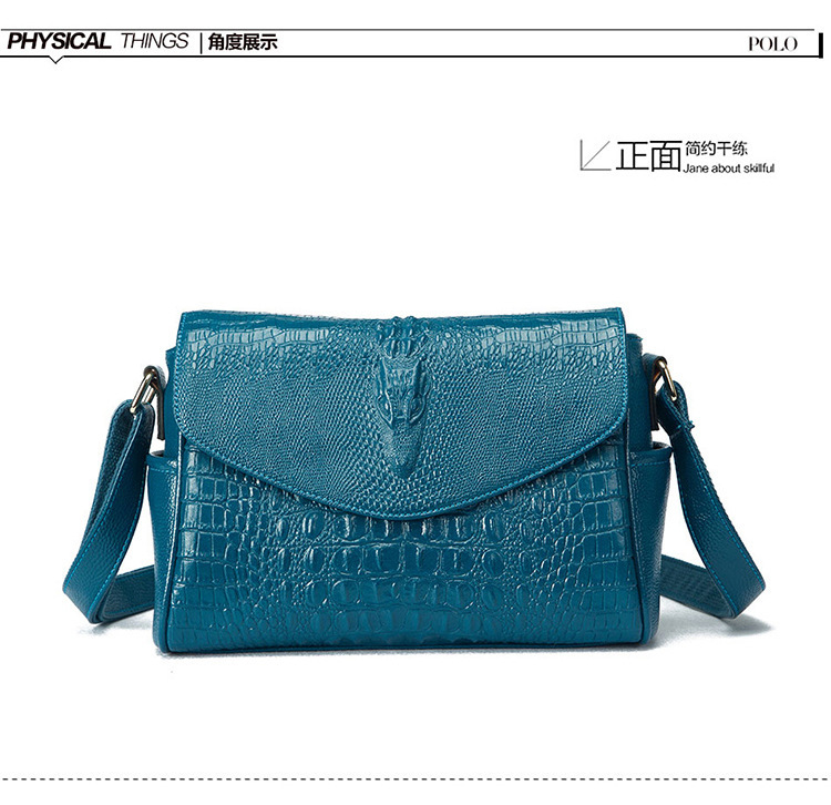 Pressure Crocodile Grain Single Shoulder Messenger Woman PackagePressure Crocodile Grain Single Shoulder Messenger Woman Package