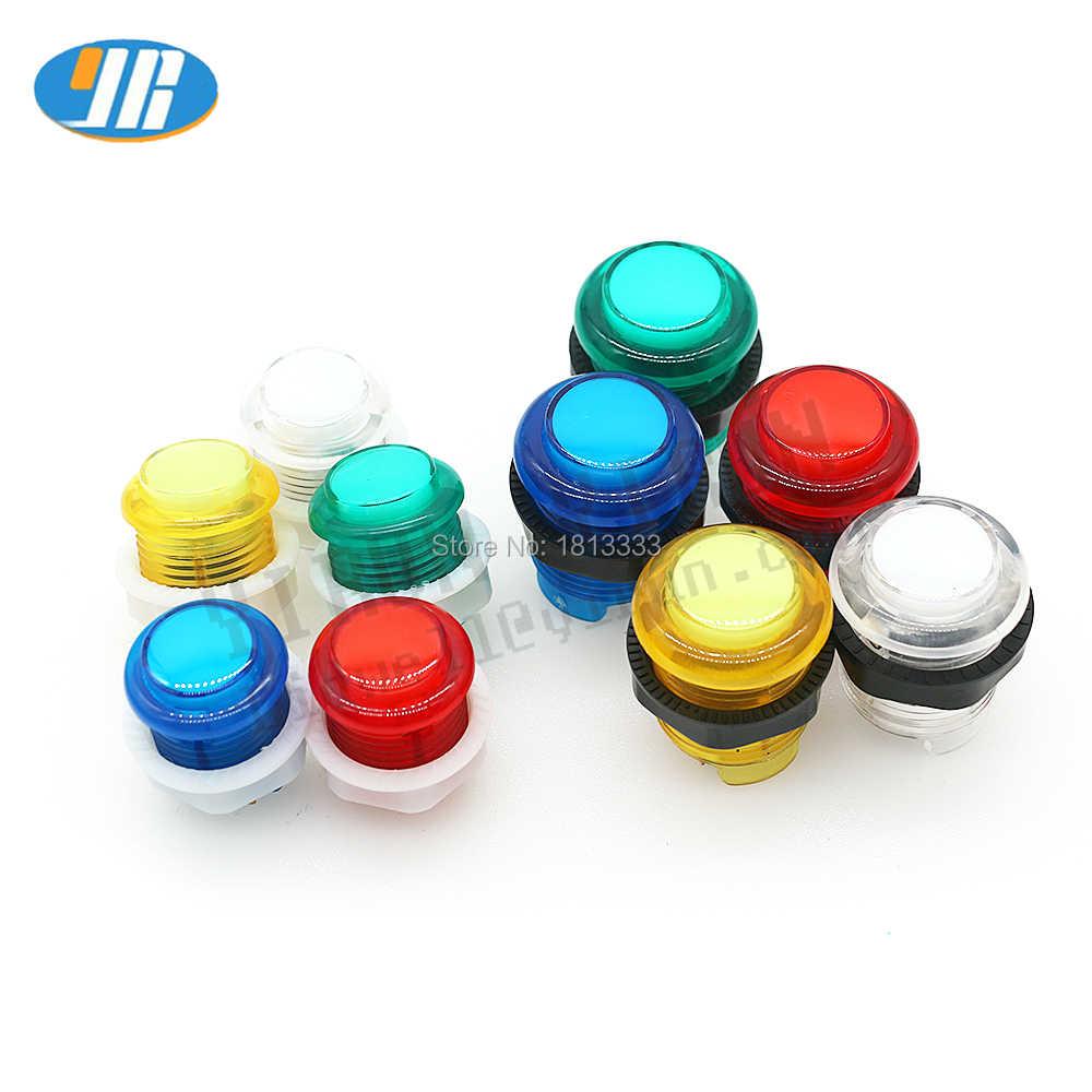 1PCS 28mm 24mm LED Arcade Push Button Arcade Start-Taste Schalter 5V Beleuchtet Taste Arcade Schrank zubehör