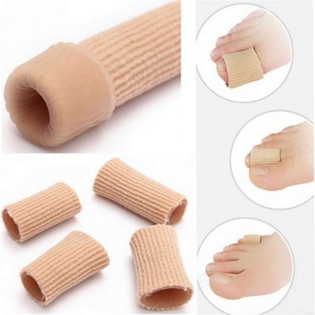 Single-sided Fiber Opening Sleeve Feet Finger Corrector Insoles Dust Gel Silicone Tube Toes Fingers Separator Divider Protector