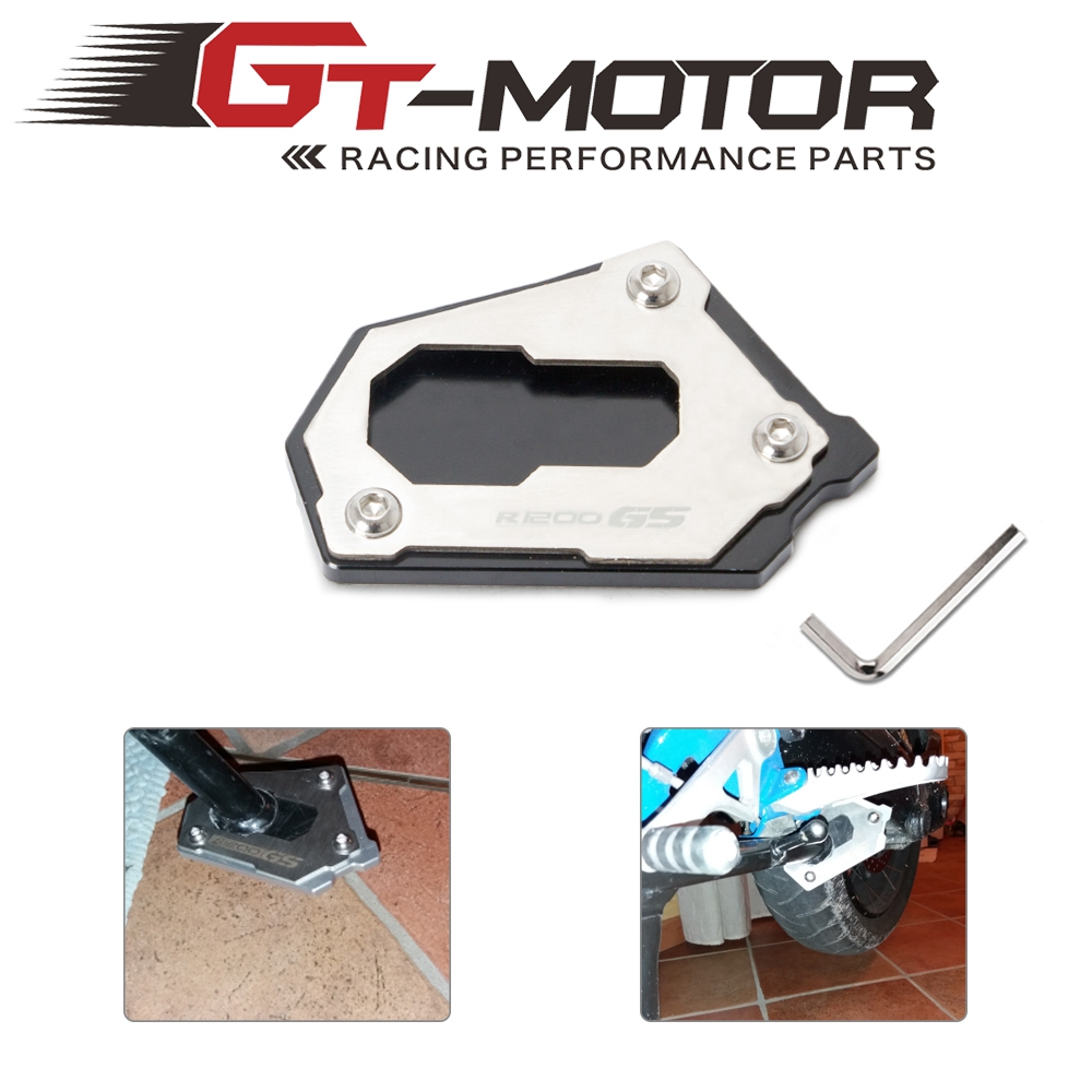 Motorcycle Kickstand Side Stand Extension Enlarge Support Plate Foot Pad For <font><b>BMW</b></font> R1250 <font><b>GS</b></font> LC R1200GS ADV <font><b>Adventure</b></font> 2013 14-2018 image
