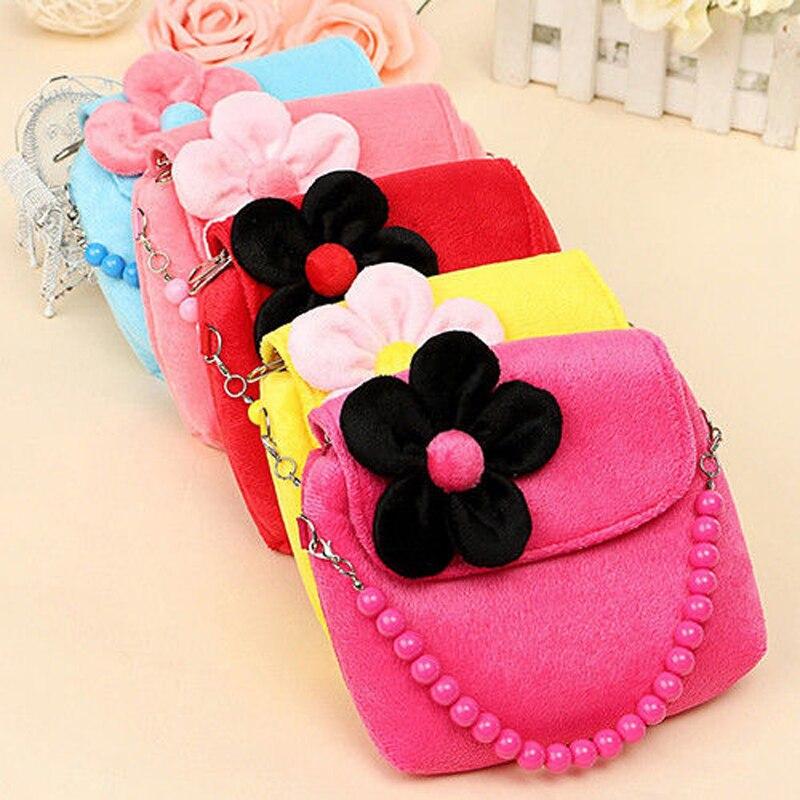 Clever Neue Mini Blume Tasche Schulter Tasche Kinder Kinder Mädchen Prinzessin Blume Messenger Handtasche Schöne Geldbörsen Crossbody-taschen