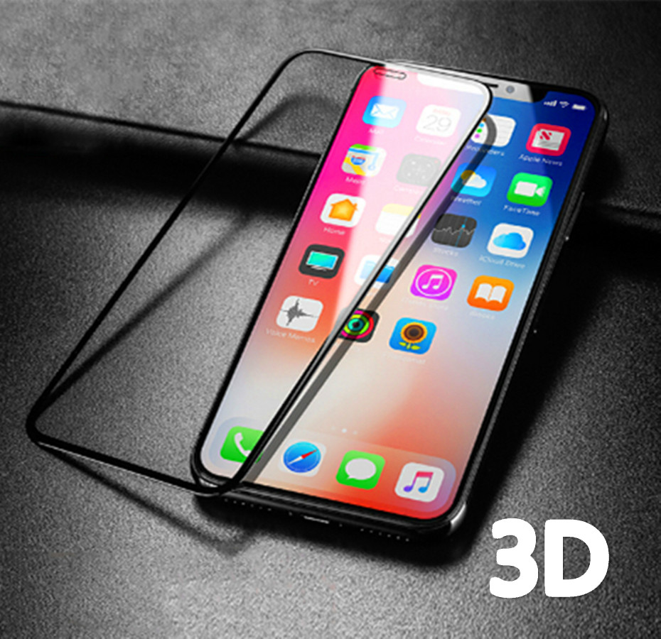 Aluminum Alloy 3D Full Cover Protective Glass For IPhone X Xs Max Xr 6 6s 7 8 Plus 5 5S SE 8Plus Screen Protector Tempered Glass