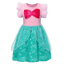 AmzBarley Girls Princess Dress Lace Bow-Knot Birthday Party wedding costume kids Ball Gown Ruffle sleeve summer clothes for girl