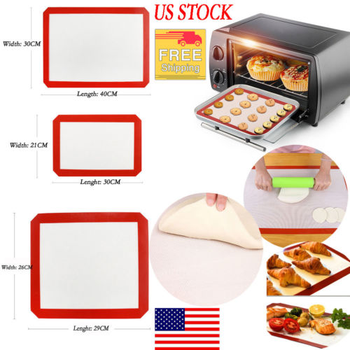 Silicone Baking Mat Sheet Bakeware Oven Non Stick Cookie Tray Heat Resistant New Bakeware Tool Baking Mat Kitchen Accessories