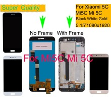 10Pcs/lot LCD For Xiaomi Mi 5C Mi5C Display Touch Screen Digitizer Pantalla monitor Assembly Complete With Frame