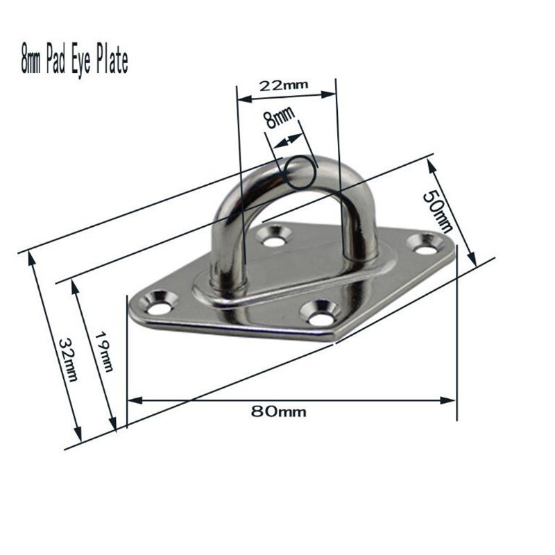 Stainless Steel Hook Clasp Ceiling Hanger For Hammock Swing Chairs Hanging Seat Accessories Kit For Ceiling Indoor Outdoor