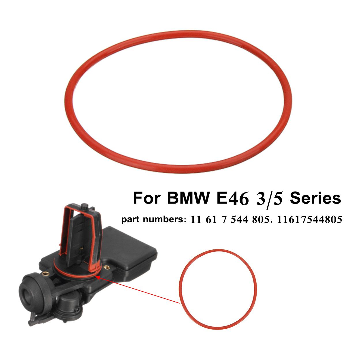 1pc Rubber O-Ring Intake Manifold DISA Valve For BMW E46 3/5 Series 2001-2004 11617544805 /11 61 7 544 805