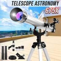 675x Astronomical Refractive Zooming Telescope Sky Monocular With Tripod for Space Celestial Observation Monocular/Binoculars