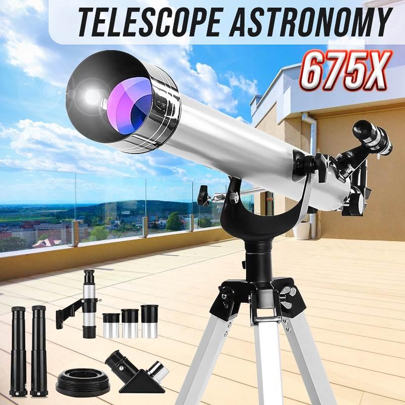 675x télescope de zoom réfractif astronomique ciel monoculaire avec trépied pour l'observation céleste de l'espace monoculaire/jumelles