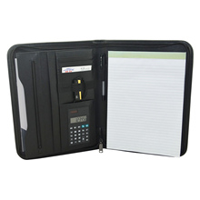 多機能A4 会議フォルダプロフェッショナルビジネスpuレザードキュメントケースオーガナイザーバッグポートフォリオ電卓