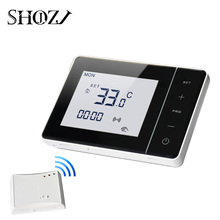 Intelligent Mounting Plate Thermostat 433 mhz Programmable Control of Adjustable Gas Boiler with Receiver RF transmitter недорого
