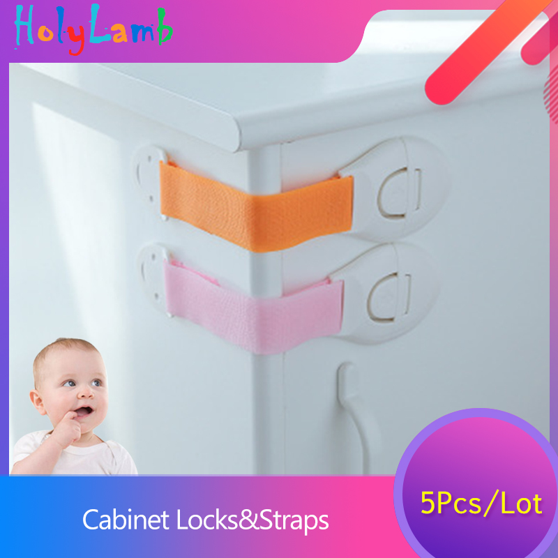 11.11 5Pcs/Lot Child Lock Cabinet Lock Protection Of Children Locking Doors For Children's Safety Kids Safety Plastic Lock