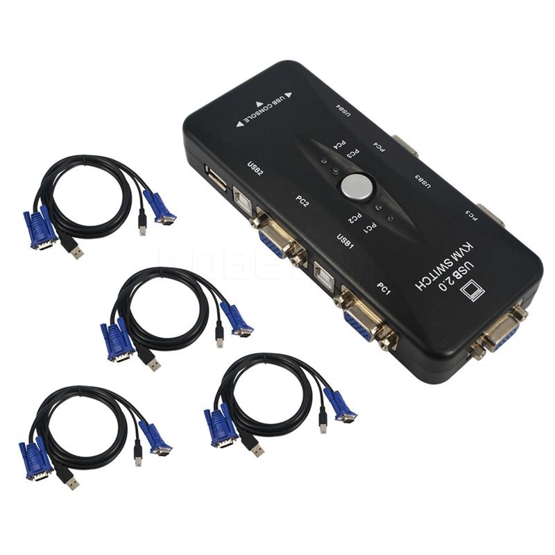 Kvm-switches Ingelon Hdmi Kvm Switch 2 Port Usb Switcher Bauen In Kabel Für 2 Stück Hdtv Monitor Tastatur Maus Sharing Tragbare Kvm-schalter
