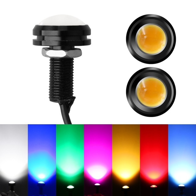 1 Piece 22MM Car Led Eagle Eye DRL Daytime Running Lights Source Backup Reversing Parking Signal Lamps Auto Car Styling