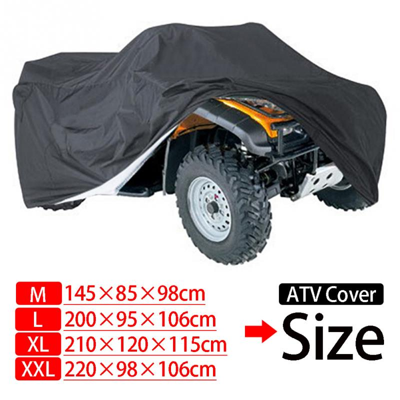 New Beach Car Cover Xxl Atv Parts & Accessories 220*98*106cm Atv Car Cover Atv Rain Cover Atv Sun Cover Camouflage Silver