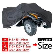 190t impermeável dustproof anti-uv quad bike atv capa para polari s can-am kawasaki