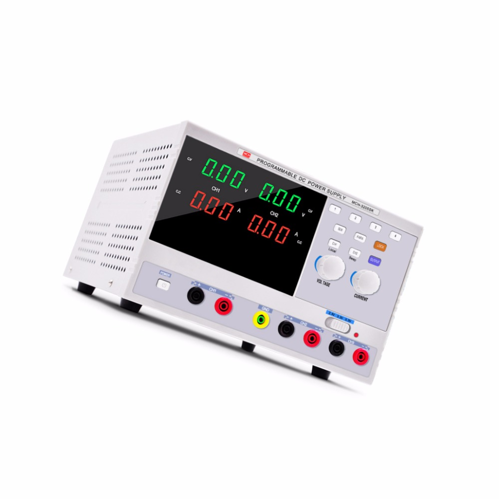 MCH двухканальный DC Регулируемый источник питания 32V5A серия и параллельная функция 300 Вт NC блок питания программируемая мощность