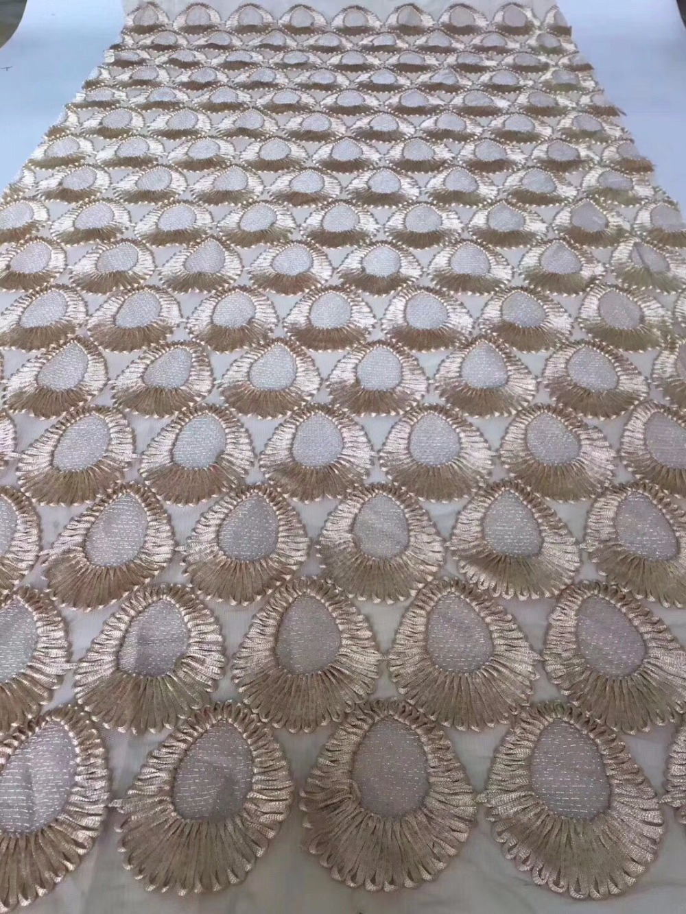 Beautiful Mesh Lace Fabric High Quality Embroidered Fabrics Fashionable 3d Lace Fabric For Wedding Dresses Tull Lace 3D-in Lace from Home & Garden    2