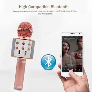 Image 2 - Ssmarwear WS 858 karaoke microfono senza fili altoparlante bluetooth microfono per il telefono del computer di registrazione youtube casa karaoke mic