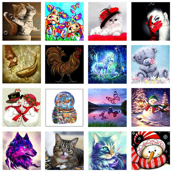 DIY Cute animal Diamond Painting Setting sun Landscape Cross Stitch Full Square/Round diamond painting rhinestones gift